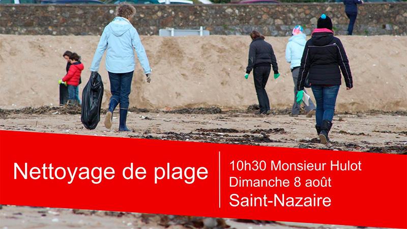 Nettoyage de la plage de Monsieur Hulot