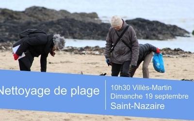 Nettoyage de la plage de Villès-Martin
