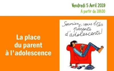 Conférence : la place du parent à l'adolescence