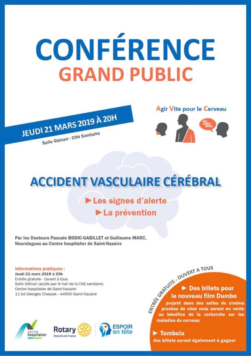 Conférence grand public accident vasculaire cérébral
