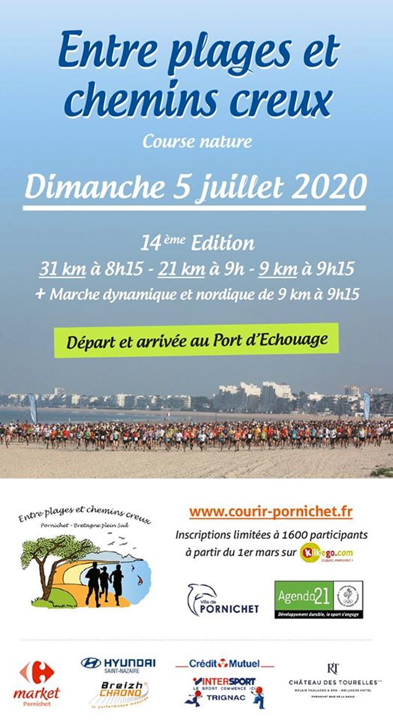 Course entre plage et chemins creux 2020