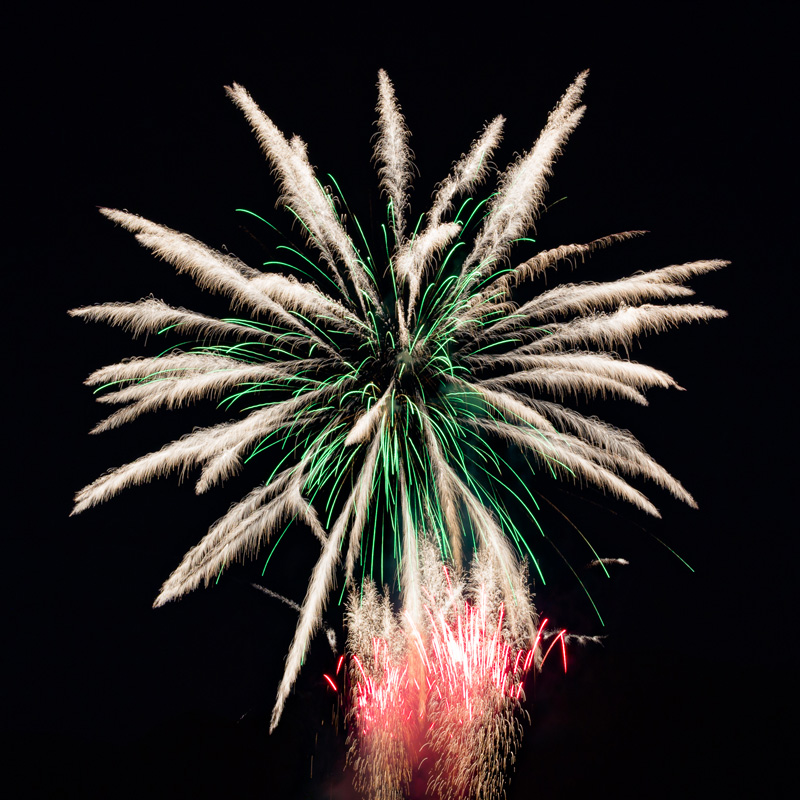 Feu d'artifice à Trignac