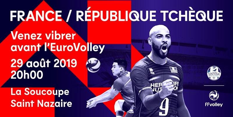 Match de l'équipe de France de Volley-Ball