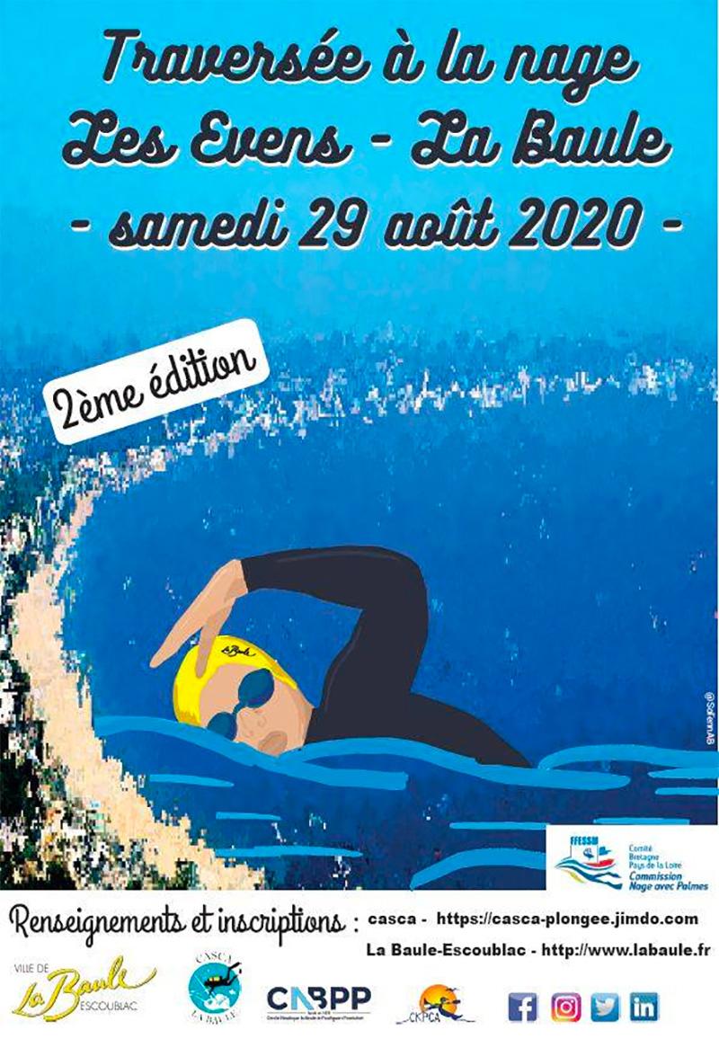 Traversée à la nage Les Evens - La Baule