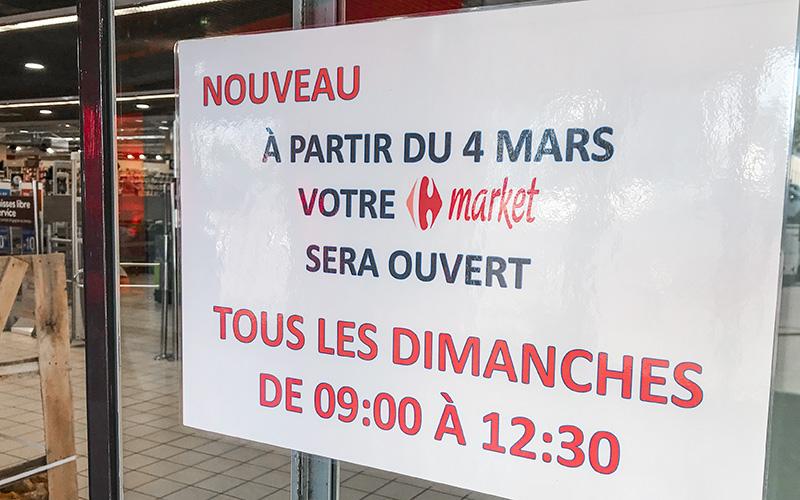 Saint-Nazaire : ouverture du Carrefour Market Villeport le dimanche