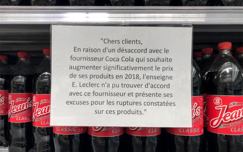 Saint-Nazaire : Leclerc Immaculée privé de Coca-Cola