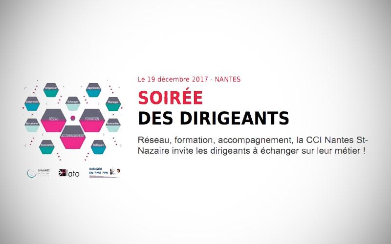 Soirée dirigeants organisée par la CCI Nantes St-Nazaire le 19 décembre
