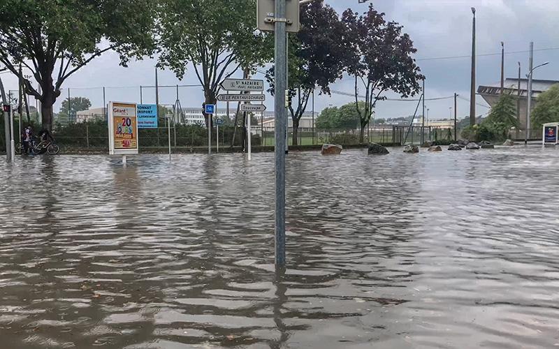 Vidéo : inondation à Saint-Nazaire