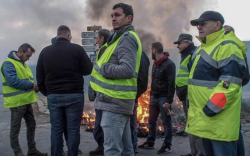 Gilets jaunes à Saint-Nazaire : retour en vidéo sur les blocages