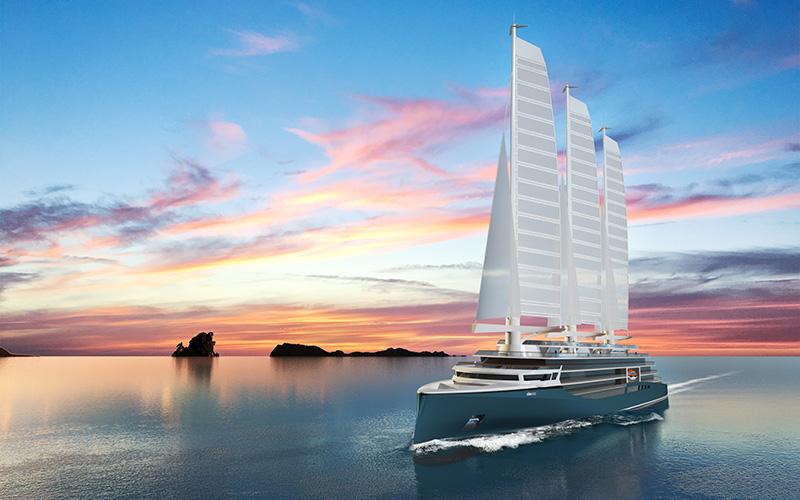 Chantiers de l'Atlantique teste la voile du futur Solid Sail à Pornichet