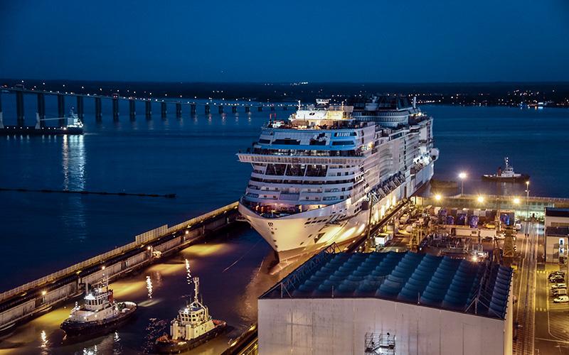Saint-Nazaire : le MSC Virtuosa mis à flot ce week-end