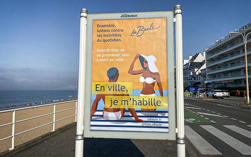 La Baule : une campagne pour sensibiliser les estivants trop dénudés