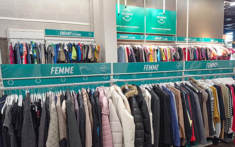 Trignac : Gemo ouvre un corner de vêtements de seconde main