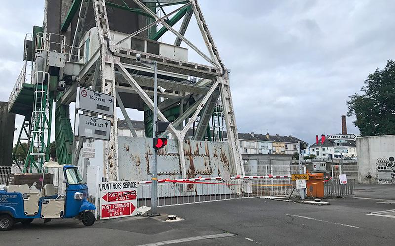 Saint-Nazaire : remise en service du pont basculant au mieux à la mi-novembre