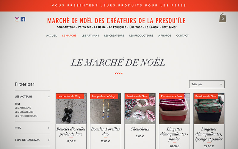 Confinement : un marché de Noël en ligne avec les créateurs de la Presqu'île