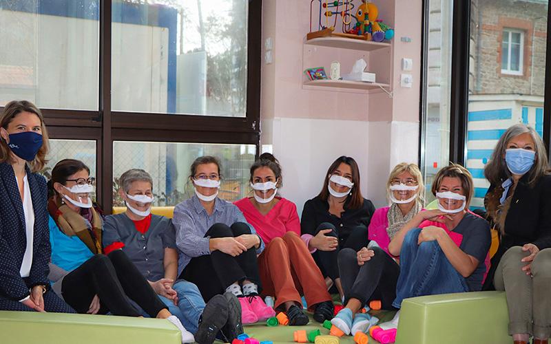 La Baule : des masques transparents pour les enseignants