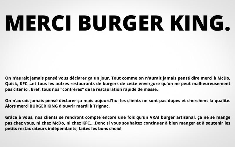 Trignac : Big Poppa se paye Burger King