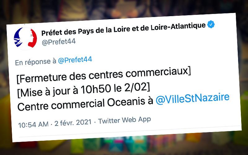 Saint-Nazaire : la préfecture confirme la fermeture de la galerie commerciale d'Océanis