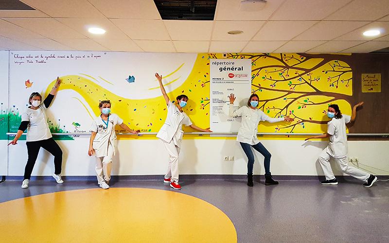 Saint-Nazaire : une touche de couleur pour les patients de la Clinique