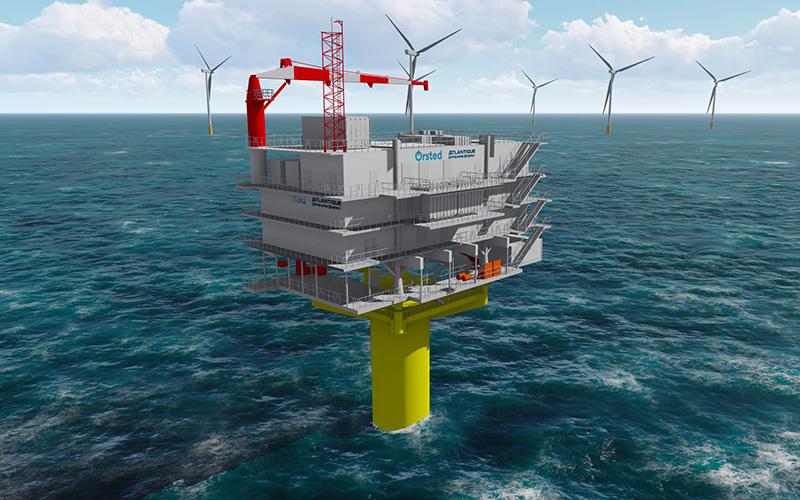 Saint-Nazaire : construction d'une sous-station pour un parc éolien en mer du Nord