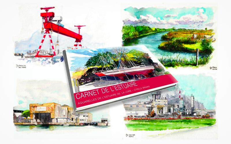 Saint-Nazaire : un carnet d'aquarelles pour visiter les bords de l'Estuaire