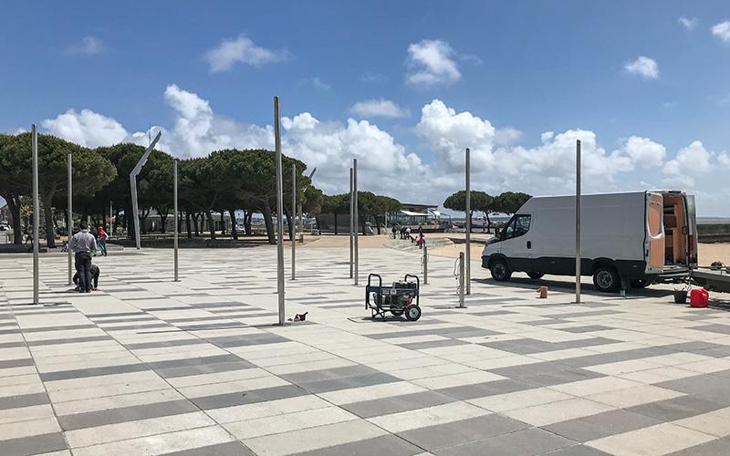 Saint-Nazaire : les jeux d'eau de retour place du Commando