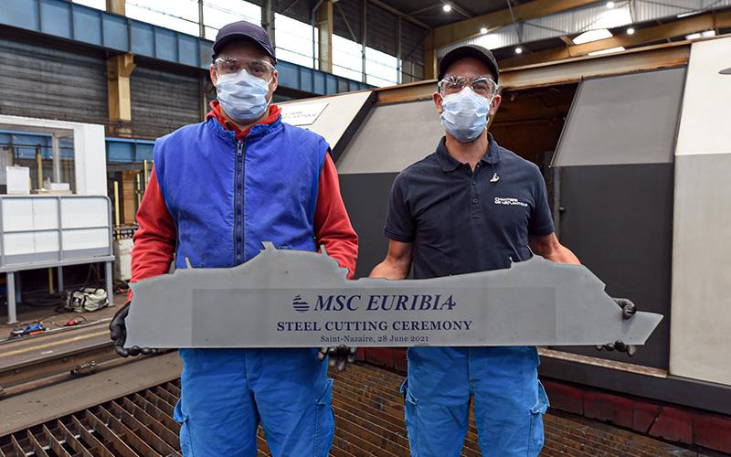 Saint-Nazaire : lancement de la construction du MSC Euribia