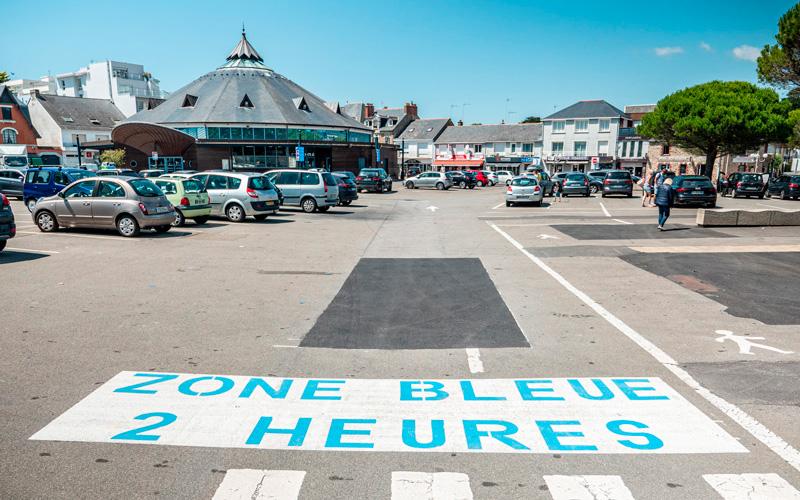 Stationnement à Pornichet : attention à la zone bleue près du Marché
