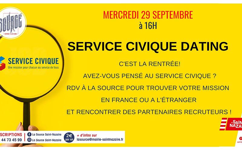 Saint-Nazaire : un service civique dating organisé à La Source
